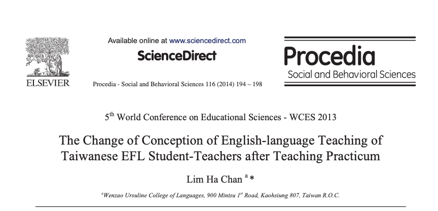 The Change of Conception of English-language Teaching of Taiwanese EFL Student-Teachers after Teaching Practicum